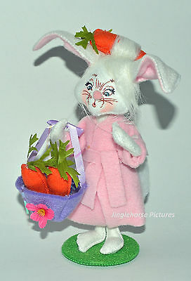 """Annalee 8"""" EASTER MORNING BUNNY 2014 Poseable Decor FIGURE Mother Rabbit Gift NW"""