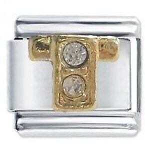 JSC Italian Charm Fits Nomination Classic Bracelets Charms SMOOTH LETTER F
