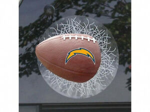 San Diego Chargers Shatter Glass Football Window Cling
