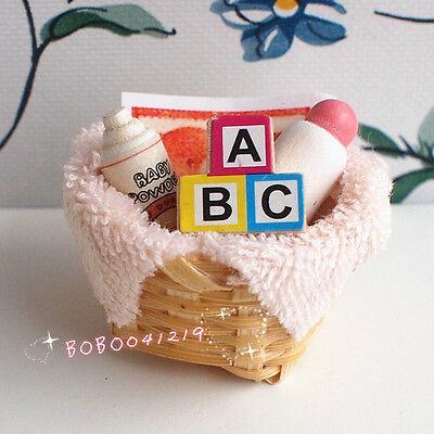 Dollhouse Miniature 1:12 Toy Nursery Baby Set Diaper Nursing Bottle B22