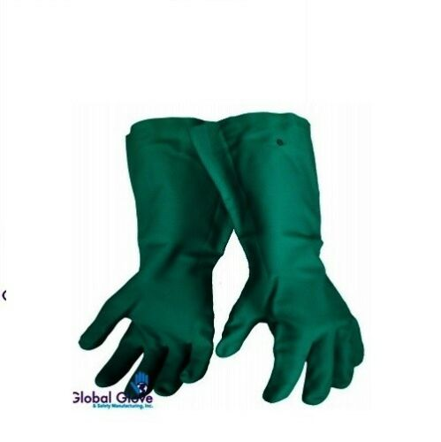 """PAIR HEAVYWEIGHT Unsupported Nitrile Gloves 22 mil 19/"""" 522-XL NEW LOW PRICE 1"""
