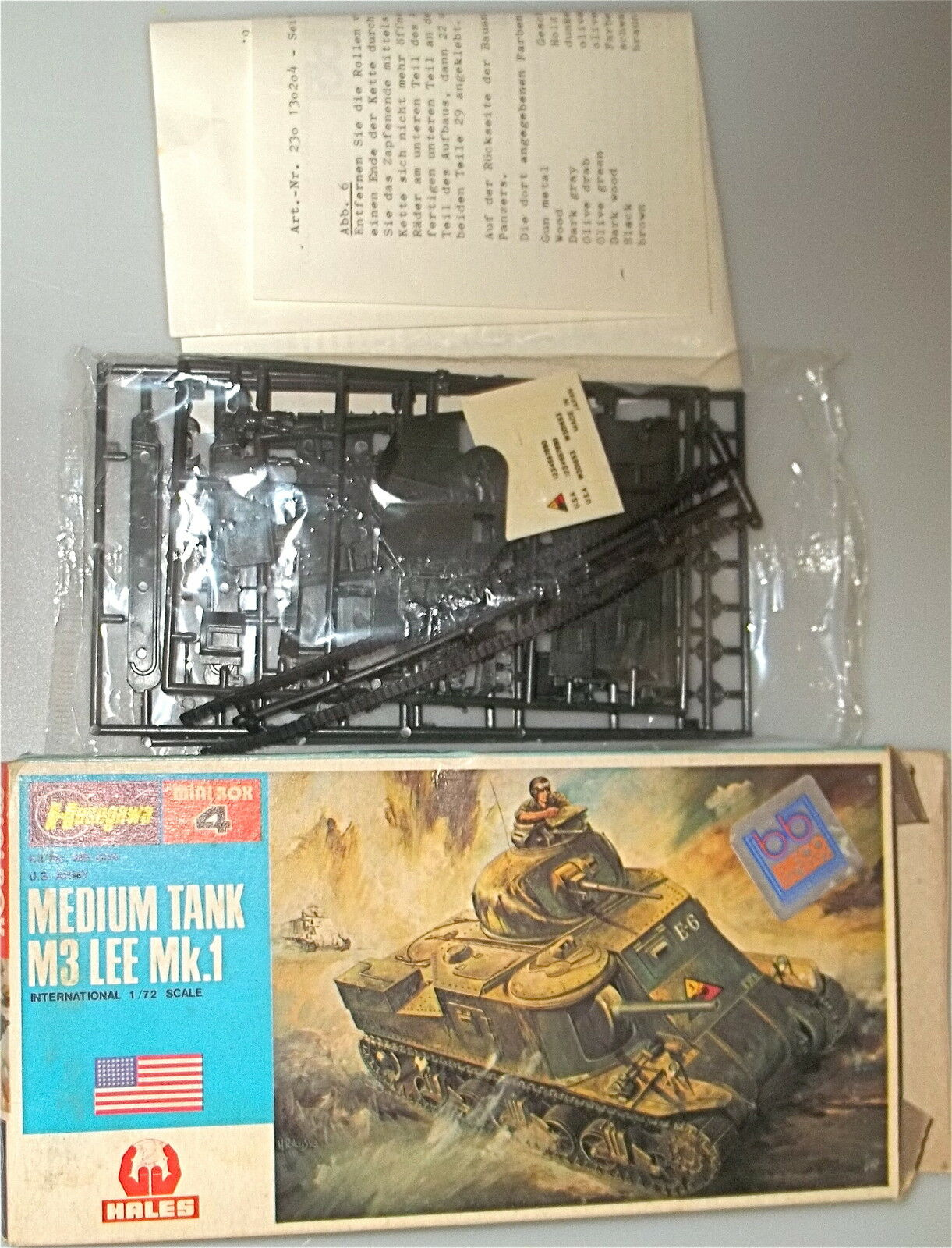 Medium Tank M3 Lee mk. 1 Hasegawa Mini BOX4 Scale 1 72