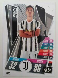 2020-21-Match-Attax-UEFA-Champions-League-Paulo-Dybala-Card-Juventus