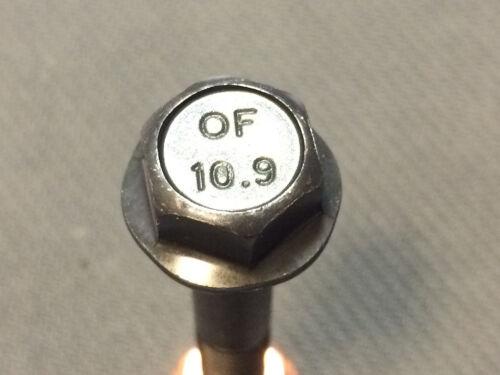 10 Stück hochfeste Auspuffschraube Krümmerschraube M8x50 10.9 schwarz
