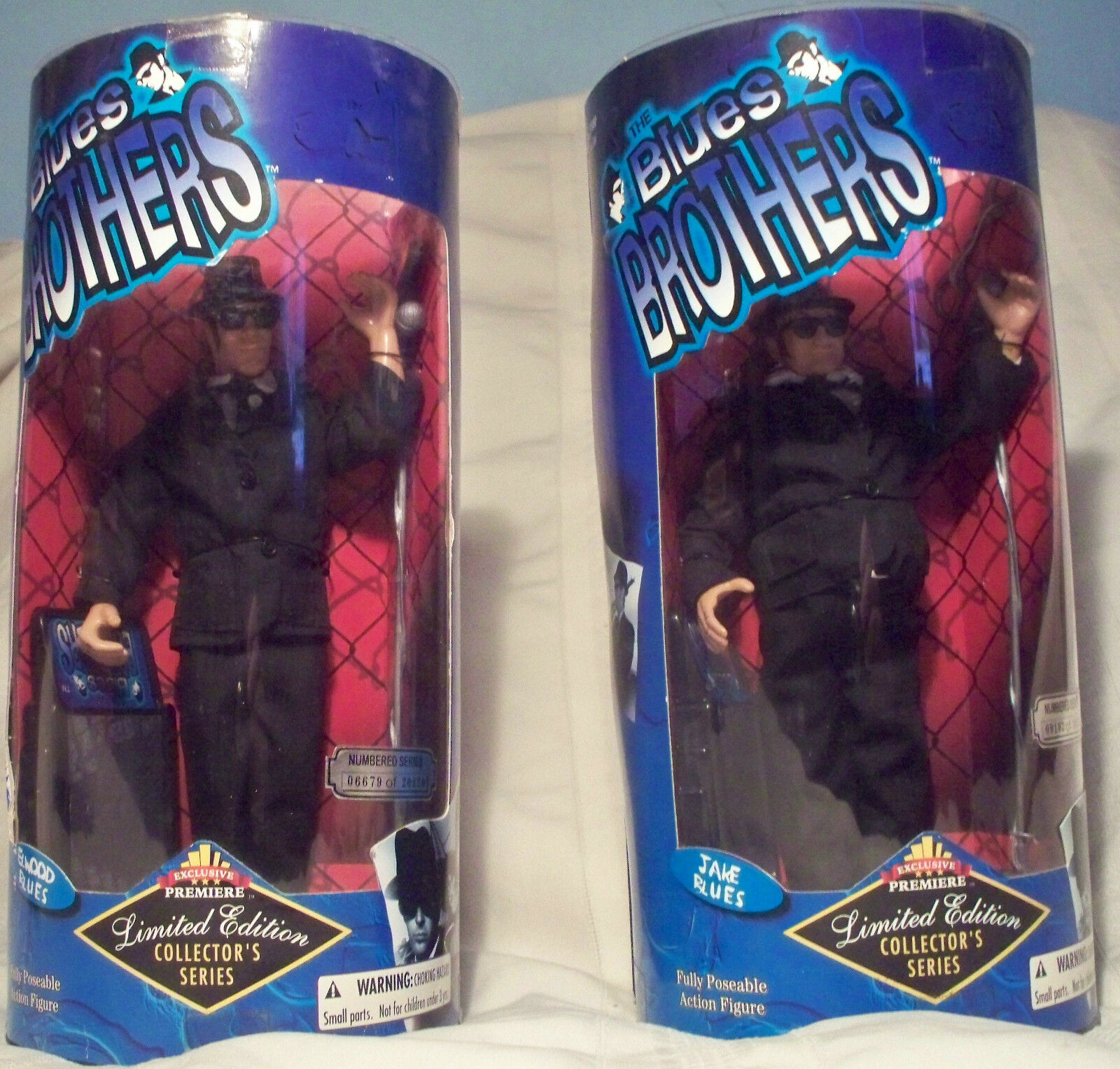 The bluees bluees bluees Bredhers figures Limited Edition w Boxes  Jake bluees and Elwood bluees 67b257