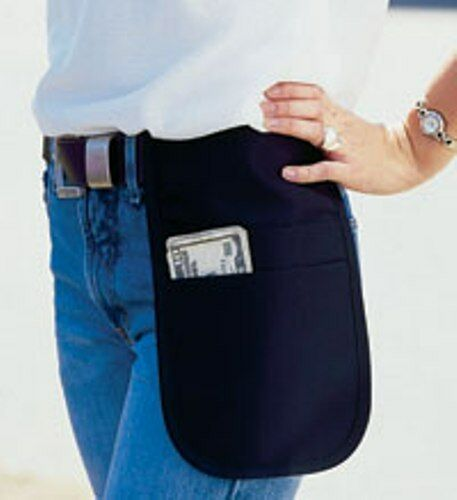 12 Cocktail  Waiter Waitress Money Pouch 2 Pocket Black Apron Fits Small Tablet
