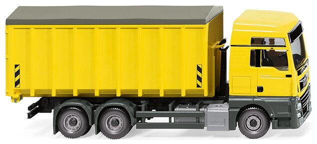 Wiking 067205 Roll Container (Man Tgx C   Meiller) - Zinc Yellow, 1 87 (H0)