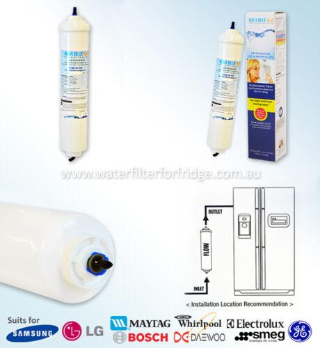 """5 Micron Suit IL643 2 X Inline External Fridge Filter Cartridge,10 /"""""""