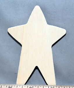 Primitive-Folk-Art-Star-4-034-New-Unfinished-Wood-Craft-Made-in-USA
