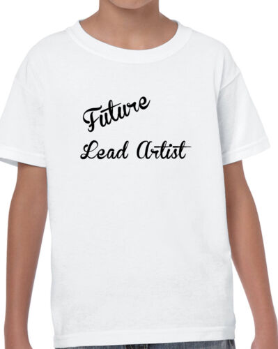 KIDS FUTURE LEAD ARTIST T SHIRT WHITE BIRTHDAY GROW UP