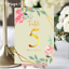 Personalised-Floral-Theme-Wedding-Table-Numbers-Name-Place-Cards-A5-A6-A7 thumbnail 7