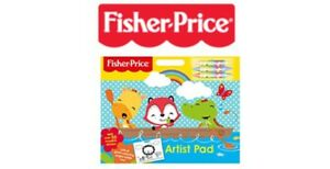 Children-s-Artist-Pad-With-Stickers-amp-Coloring-Fisher-Price-NEW-Ideal-Gift-Idea