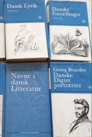 Gyldendals Bibliotek - Dansk litteratur , Gyldendals