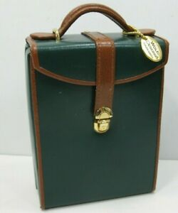 Wolf-Designs-Multi-Compartment-Jewelry-Travel-Case-Leather-Green-Brown-Nice