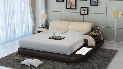100% Wahr Wasserbett Hotel Doppel Bett Betten Komplett Lederbett Polsterbett Wasser Lb8812