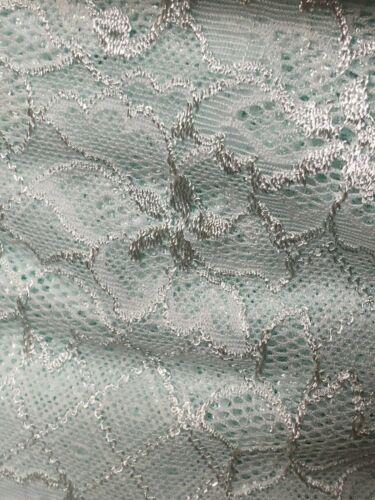 """Laverslace menta pastel verde pálido Ancho Elástico Suave Ribete de Encaje 6.5/""""//16.5cm"""