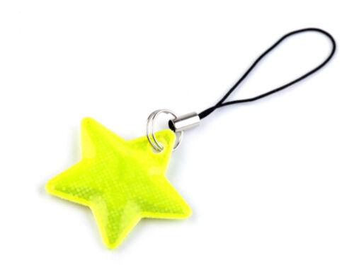 Reflektierender Aufhänger Stern Jackenanhänger