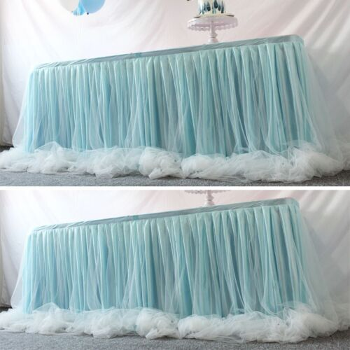 1M Tulle Tutu Table Skirt Cover Baby Shower Party Wedding Decor Height 80CM