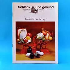 Schlank und gesund | Gesunde Ernährung | Verlag für die Frau DDR um 1977 B