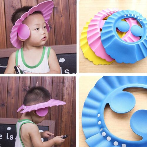 Bathroom Soft Shower Cap Wash Hair Cover Head Hat for Child Toddler Kids Bathing