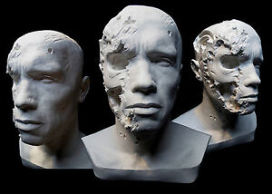 Details about Arnold Schwarzenegger Terminator Bust T2 Planet Hollywood  Stage 5 T800 Endoskull