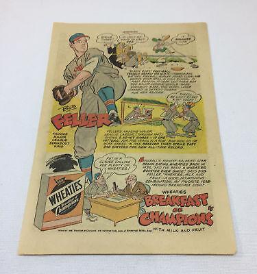 Sport Fanartikel Erfinderisch 1948 Wheaties Bob Feller Cartoon Ad Seite ~ Cleveland Indians Um Das KöRpergewicht Zu Reduzieren Und Das Leben Zu VerläNgern