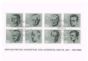 Widerstandskaempfer-20-Juli-1944-Ersttagsblock-Ersttagsstempel-sauber-postfrisch