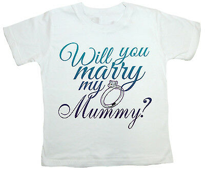 "Marriage Proposal T-Shirt /""Will you Marry My Daddy?/"" Engagement Ring Wedding"