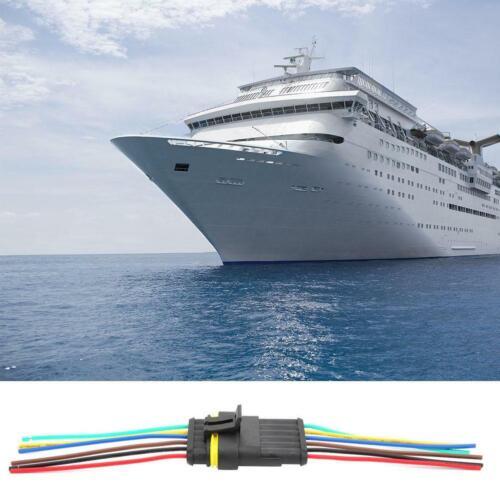 2 Set 4//5//6 Polig KFZ Auto LKW Wasserdicht Stecker Steckverbinder Mit 10cm Kabel