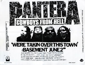 PANTERA-We-039-re-Takin-Over-This-Town-FLYER-Original-Exhorder-Down-Dimebag-Darrell