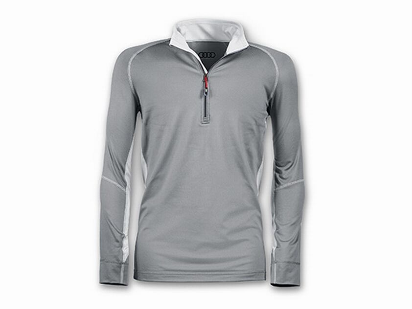 Attaque complète An du Nouvel An complète de Noël, vente d'achat groupée AUDI baselayershirt, gris foncé, AUDI Chemise pour hommes, extérieur chemise 2aec7b