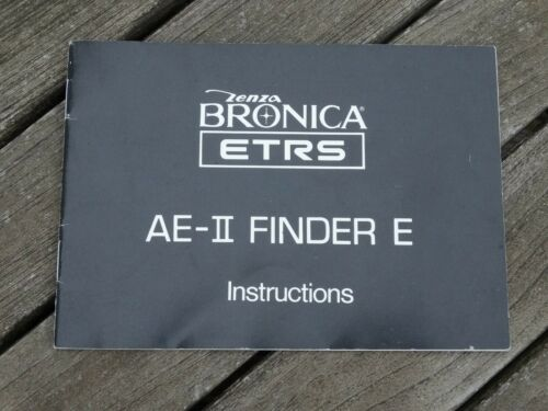 Bronica ae-ii Finder E Manual de instrucciones-original no una copia