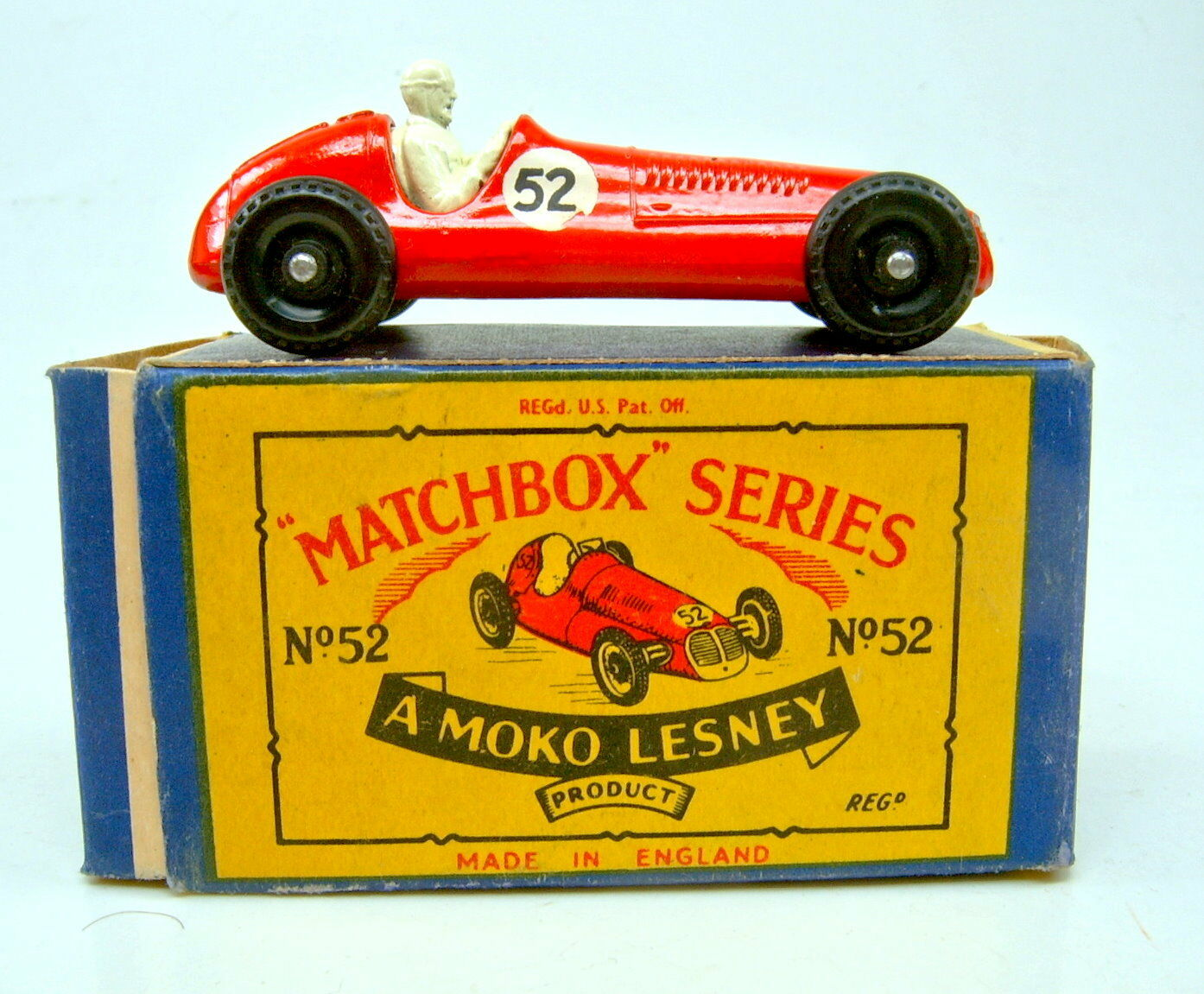 Matchbox Rw 52a Maserati Racing Car Red Number  52  in  B  Box