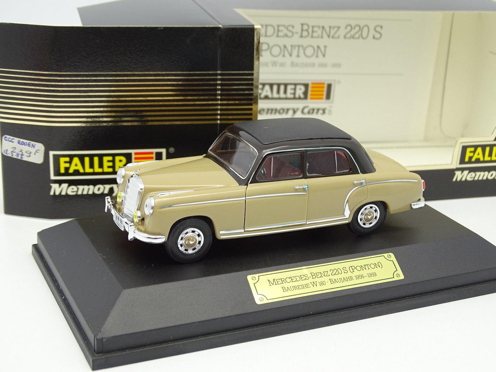 Faller 1 43 - Mercedes 220 S Ponton W180 1956 Beige