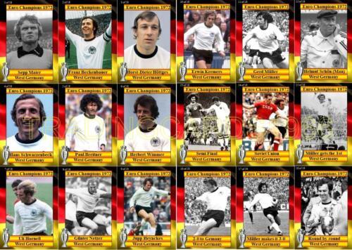 Allemagne de l/'Ouest 1972 championnat d/'europe des vainqueurs de cartes à collectionner Football Euro 1972
