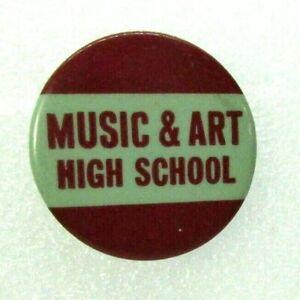 1950s Vintage Pinback Pin Button Music & Art High School Fiorello H. LaGuardia ?