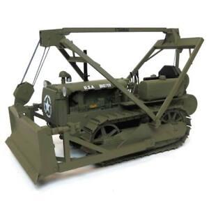 1-16-Military-Caterpillar-D4-2T-Crawler-w-Le-Tournea-Blade-Cust1505-SpecCast
