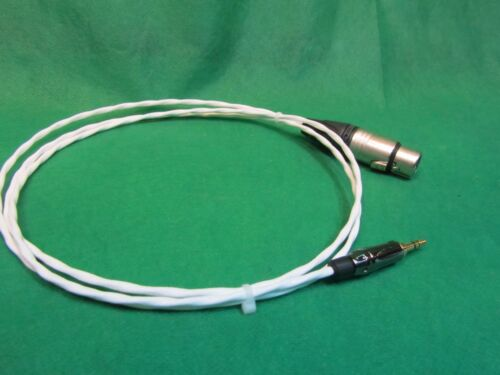 10 FT Silver Plated 3.5mm Male to XLR Female stereo PC mixer Karaoke Cable.