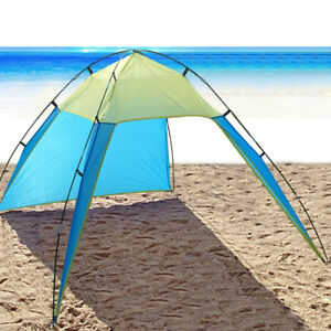 Image is loading Pop-Up-Portable-Beach-Canopy-UV-Sun-Shade-  sc 1 st  eBay & Pop Up Portable Beach Canopy UV Sun Shade Shelter Triangle Outdoor ...