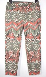 Jones New York Jeans Soho Ankle Women S Multi Color Pants Size 8p Measure 31 W Ebay