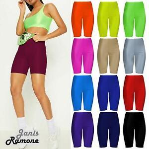 Nueva Camiseta Para Mujer Stretchy Danza Brillante Nylon Lycra Correr Deportes Pantalones Cortos De Ciclismo Ebay