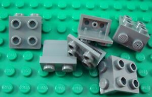LEGO Lot of 12 Dark Bluish Gray 1x2-2x2 Brackets