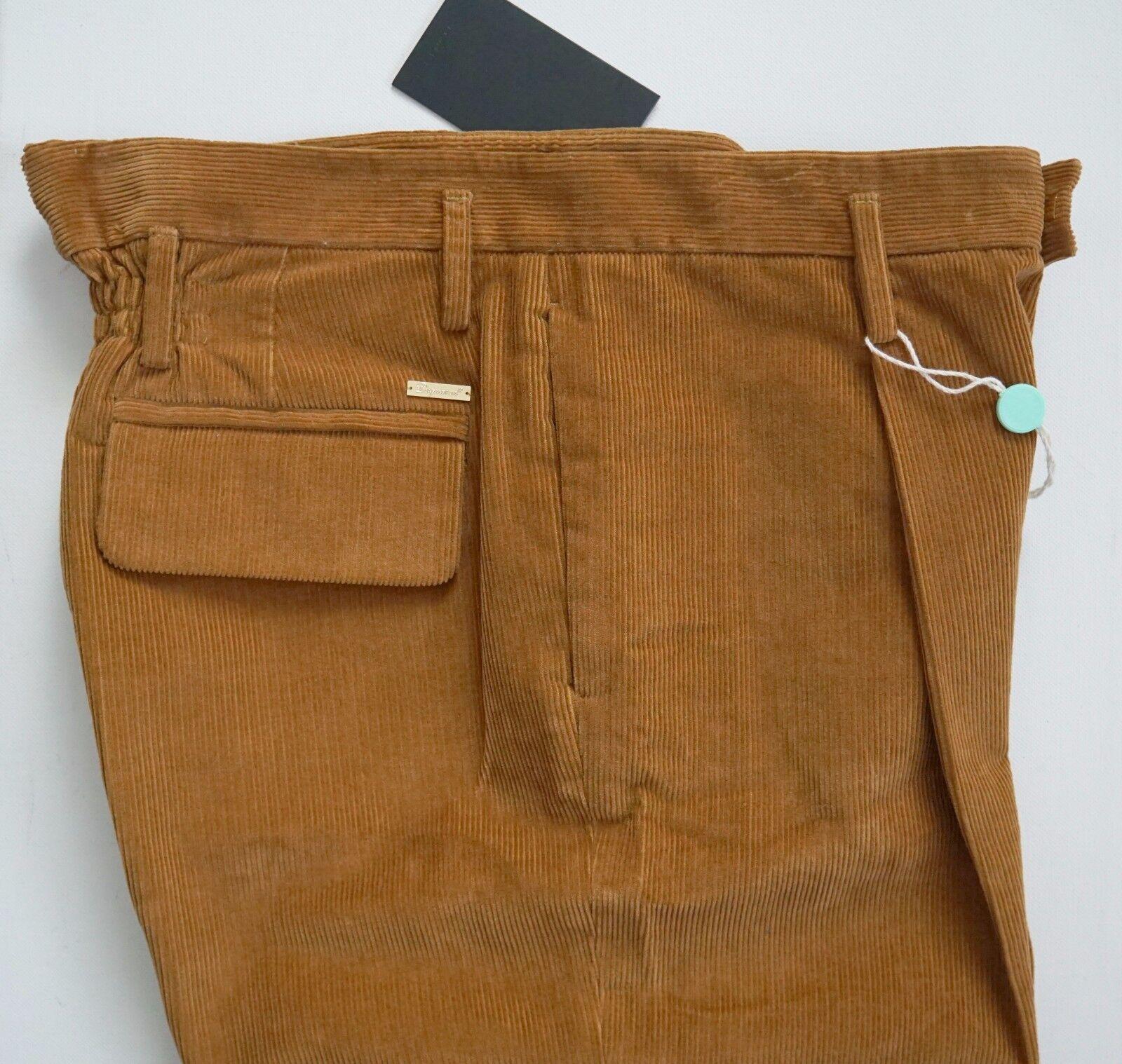 565 DSQUARED2 100% Cotton CORDUROY High-Waist Wide Leg Pants EU-42 US-30