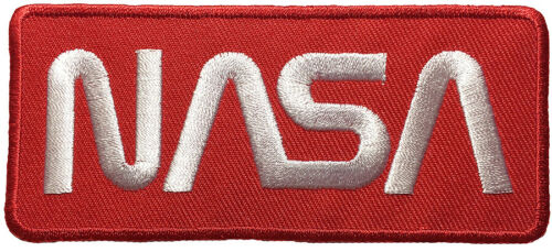 NASA US Space Center Astronaut Program Explorer Badge Logo Sew Iron on Patch Red