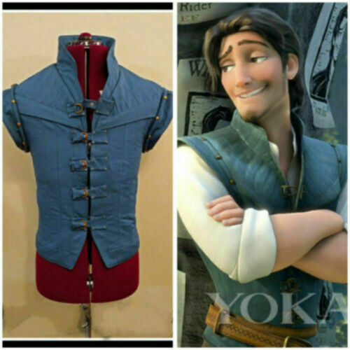 Enchanted entremêlé Prince Flynn Rider Gilet Veste Uniforme Cosplay Costume
