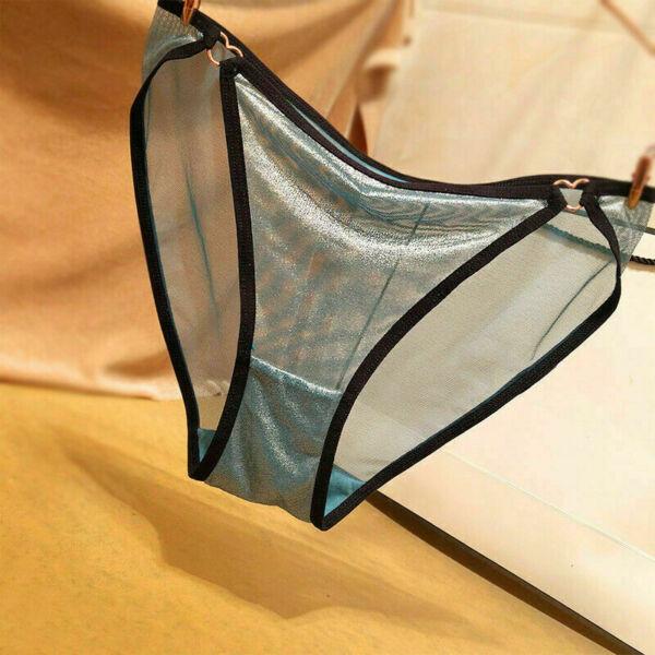 Damen Spitze Durchsichtig Slip Höschen Glänzend Atmungsaktive Unterwäsche