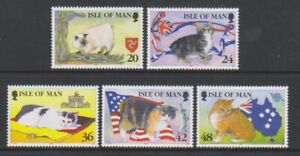 Ile-de-Man-1996-Chats-Ensemble-MNH-Sg-678-82