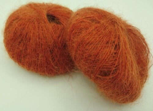 fabriqué en France 10  pelotes super kid mohair  couleur  paprika