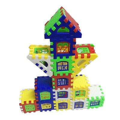New Kids Colorful House Building Blocks Construction Bricks Educational Toys Set