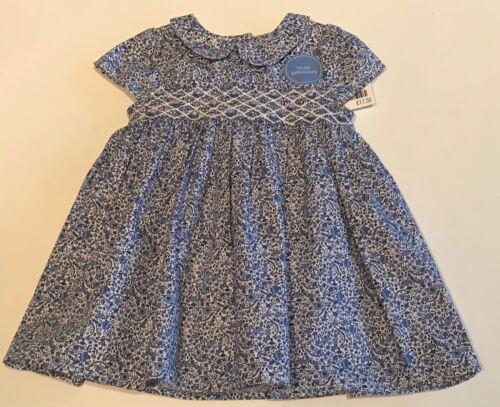 Next Baby Girls robe bleu /& blanc 3-6 mois BNWT